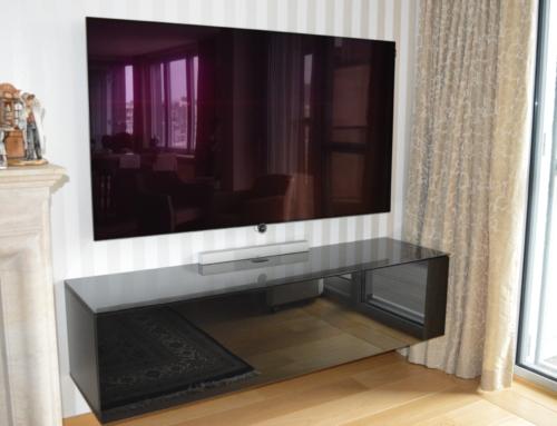 Integratie van audiovisueel materiaal in bestaande woning.